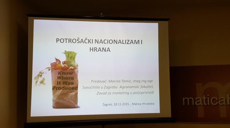 Potrošački nacionalizam i hrana, Matica Hrvatska, 18.11.2015 (1)